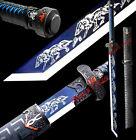 Outdoors Knife Chinese Saber Jian KungFu Broadsword Dao Sword Sharp Blade W/Wolf