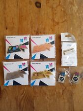 London 2012 Olympic Games Badges 7 Pins Set Games Maker Pins Books BMW