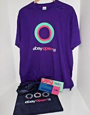 eBay 2018 Logo T-shirt eBay Open Las Vegas Purple Size XL Unisex Tote Pin LOT