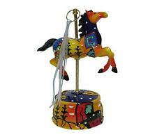 Musical Carousel Wind Up Horse Music Box Figurine Plays the Tune Carousel Waltz