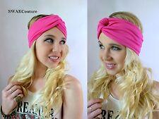 Turban HeadBand Cotton Jersey Hot Pink Twist Yoga Head Wrap High quality