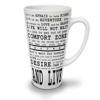 Quote Motivate NEW White Tea Coffee Latte Mug 12 17 oz | Wellcoda
