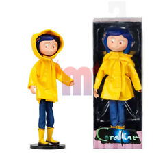 "Coraline Yellow Raincoat Boots 7"" Bendy Doll Action Figure NECA Collection New"