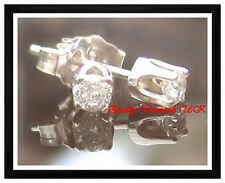 0.20 CARAT GENUINE DIAMOND STUD EARRINGS WHITE GOLD SPARKLING NEW !!!