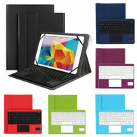 """US For 9.6"""" -10.6"""" Tablet Android Windows Bluetooth Keyboard Leather Case Cover"""