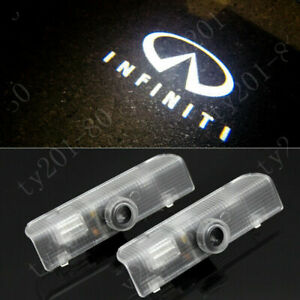 2x White LED Car Door Lights Logo Projector Ghost Shadow For Infiniti QX60 14-17