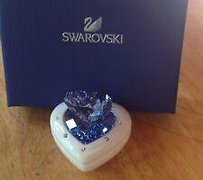 "Swarovski BABY BOY'S PORCELAIN & CRYSTAL ""HEART BOX"" ~ BLUE    #5063341"