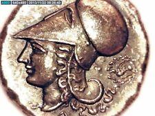 2ROOKS GREEK GREECE BRUTTIUM OR CORINTH STATER PEGASUS HORSE ATHENA HELMET COIN