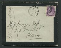 "NEW BRUNSWICK SPLIT RING TOWN CANCEL MOURNING COVER ""ST ANDREWS"""