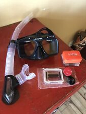 New listing Dive Spearfishing Scuba Mask Octomask Gopro Mount And Mares Ergo Flex Snorkel