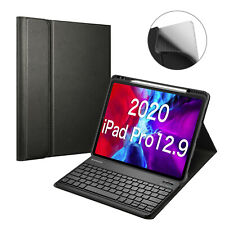 """For iPad Pro 12.9"""" 4th 2020 & 3rd 2018 Keyboard Case Back Cover Pencil Holder"""