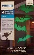 NEW Philips 4 Focusable Projectors Halloween Green Bats Indoor/Outdoor