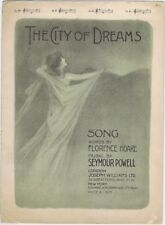 The City Of Dreams, vintage sheet music 1905
