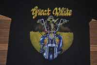 Vintage 90s GREAT WHITE Heavy Metal Hard Rock Band Tour Concert T-Shirt AA451