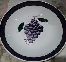 """Vintage La Primula Roma Inc Italy Pasta 13"""" LARGE Serving Bowl grapes"""