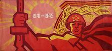 Russian Ukrainian Soviet Oil Painting realism Propaganda Red Army man poster BIG