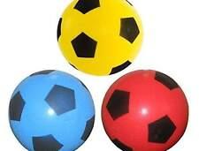 20cm Foam Sponge Football Size 5 Ball Soft Indoor Outdoor Soccer Toy Blue