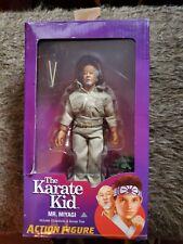 NECA REEL TOYS The Karate Kid MR. MIYAGI Chopsticks & Bonsai Tree Damaged Box