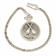 Crossed Oars Pocket Watch Gift Boxed With FREE ENGRAVING Rowing Gift