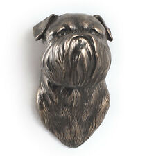 Brussels Griffon, dog statuette to hang on the wall, UK