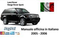 ☑️ MANUALE OFFICINA IN ITALIANO LAND RANGE ROVER SPORT 2005 2006 DIESEL 2.7 TDV6