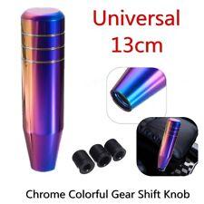 Car Gear Shift Knob Shifter Lever Handle Aluminum Manual Neo Chrome Colorful