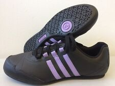 Womens Adidas Yatra 50 11 Trainers Black Leather Shoes UK 4  V22295 T259