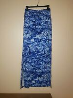 MICHAEL KORS BLUE NAVY LONG MAXI SLIT PULL-ON STRETCHY SKIRT Size Small