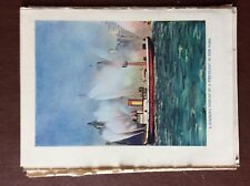 G1q Ephemera 1935 firemen book picture fire float new york