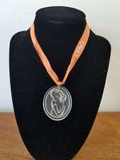 Lalique Crystal Pendant Woman's Head Inscribed Collectable Beautiful Gift Boxed
