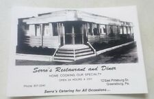 Old Greensburg PA. Serro's Diner On Lincoln Highway Advertising Postcard Repo