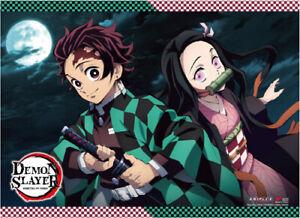 *Legit Poster* Demon Slayer Tanjiro & Nezuko Authentic Key Art Wallscroll #27065