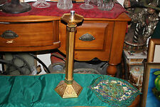 Vintage Religious Christianity Brass Metal Candlestick Holder-Tall-#1-Church