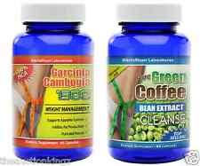 Pure Green Coffee Bean Extract Cleanse  Pure Garcinia Cambogia 60% HCA 120 Pills