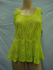 NWT Women's Victoria Lace Tank Top Size Medium Lime Green #640A