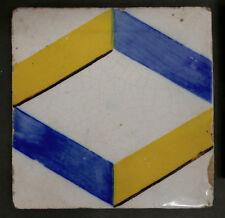 Antique Portuguese Tile Geometric Pattern