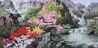 ORIENTAL ASIAN FINE ART CHINESE SANSUI WATERCOLOR PAINTING-Landscape&House view