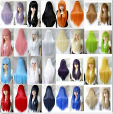 New Long straight Cosplay Fashion Wig heat resistant 16 colors  80CM/32""