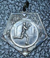 Basketball Medal Presented by A.G. Spalding Bros. - .925 Silver - E.Johnson '28'