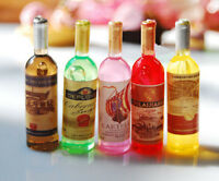 2pcs Random Miniature Dollhouse Kitchen Wine Bottle Lanscape DIY Decor Ornaments
