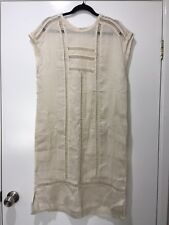 With Tags Lee Mathews Nude Linen Ladder Dress Size 1 (8) #13338