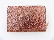 MICHAEL KORS BARBARA Pink ROSE GOLD CARD CASE Women's Mini Wallet