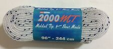 """Tex Style 2000 MT Molded Tip Hockey Skate Laces 96"""" - 244cm White Wide Unwaxed"""