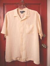 POLO Ralph Lauren mens XL pale yellow LINEN shortsleeve CASUAL SHIRT