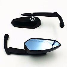 Black Metal Mirrors For Harley Dyna Softail Electra Glide Yamaha Kawasaki Bobber