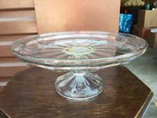 Crystal Cut Glass Cake Stand