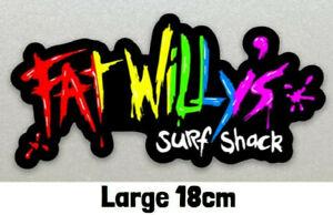 Large 18cm Fat Willys Surf Shack Sticker, Cars, Vans Boards etc. Laminated