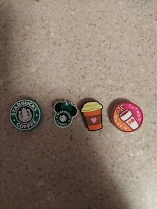 croc shoe charms-Starbucks/Dunkin
