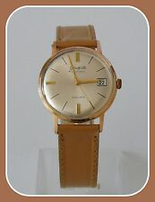VINTAGE GLASHUTTE SPECIMATIC GOLD PLATED DATE AUTOMATIC HAND WINDING GENTS WATCH