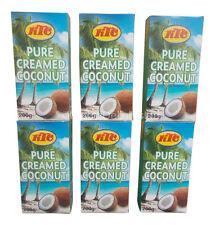 6 X KTC Puro Coco Crema leche cremosa, agente de engrosamiento de cocina de calidad
